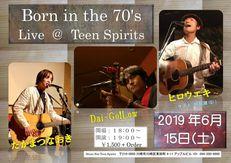 6/15(土) Born in the 70's Live